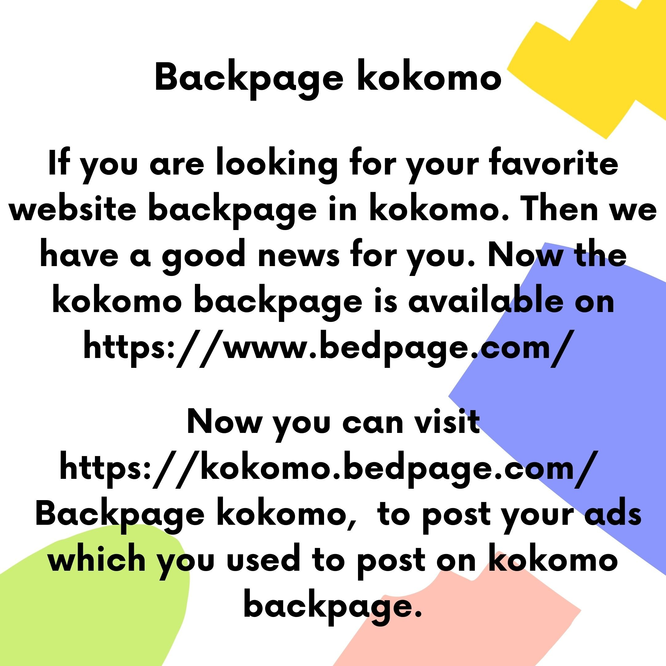 Backpage kokomo